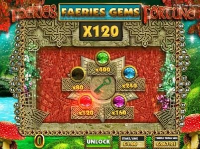 Faeries Fortune :: The third key turn awards the 120x multiplier