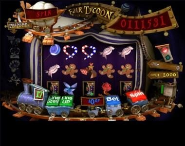 Slotland featuring the Video Slots Fair Tycoon with a maximum payout of $4,000