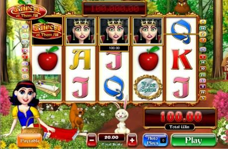 Fly Casino featuring the Video Slots Fairest of Them All with a maximum payout of 5,000x
