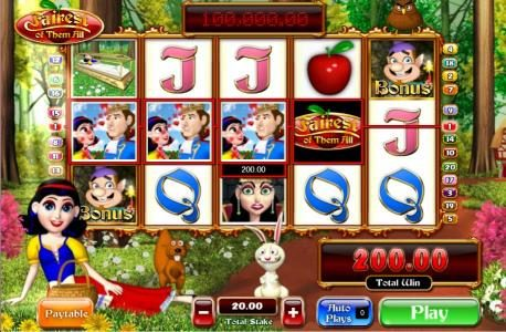 Slots Heaven featuring the Video Slots Fairest of Them All with a maximum payout of 5,000x