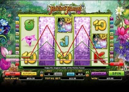 Casino Cruise featuring the Video Slots Fairies Forest with a maximum payout of $10,000