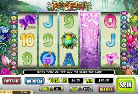 Intertops Classic featuring the Video Slots Fairies Forest with a maximum payout of $50,000