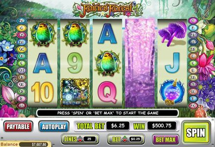Play slots at Red Stag: Red Stag featuring the Video Slots Fairies Forest with a maximum payout of $50,000