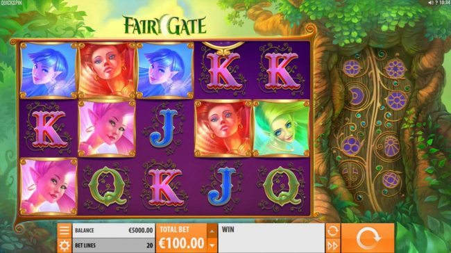 VegasMobile featuring the Video Slots Fairy Gate with a maximum payout of $40,000
