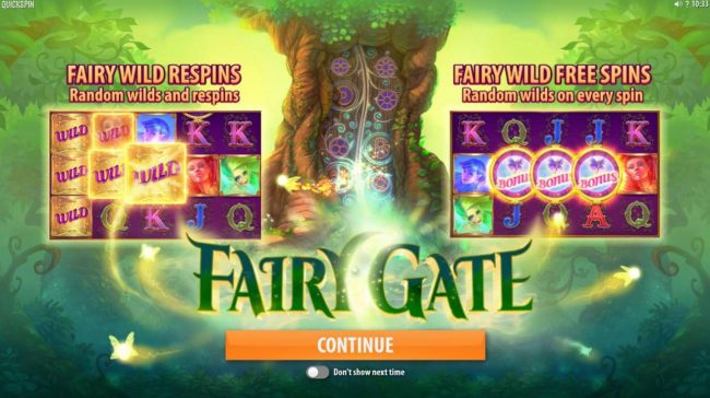 Play slots at YouWin: YouWin featuring the Video Slots Fairy Gate with a maximum payout of $40,000