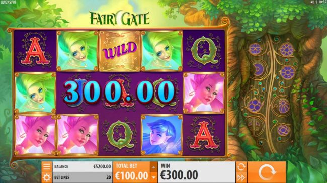 Jackpot Paradise featuring the Video Slots Fairy Gate with a maximum payout of $40,000