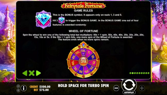 Crypto Wild featuring the Video Slots Fairytale Fortune with a maximum payout of $37,500