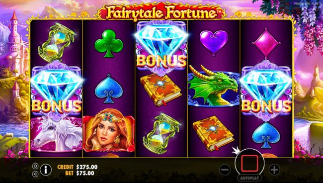 TheBesCasino featuring the Video Slots Fairytale Fortune with a maximum payout of $37,500