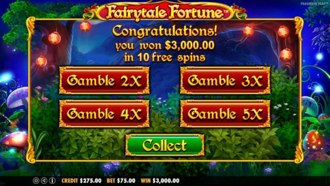 Mayflower featuring the Video Slots Fairytale Fortune with a maximum payout of $37,500