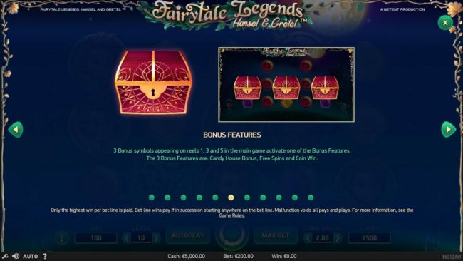 7Red featuring the Video Slots Fairytale Legends Hansel & Gretel with a maximum payout of $8,000