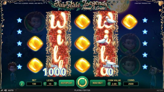 Touch Lucky featuring the Video Slots Fairytale Legends Hansel & Gretel with a maximum payout of $8,000