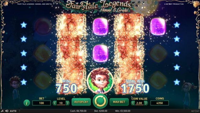 6 Black featuring the Video Slots Fairytale Legends Hansel & Gretel with a maximum payout of $8,000