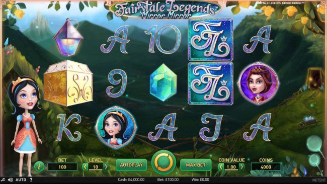 Play slots at Greenspin: Greenspin featuring the Video Slots Fairytale Legends Mirror Mirror with a maximum payout of $182,200