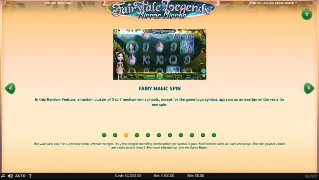 7Red featuring the Video Slots Fairytale Legends Mirror Mirror with a maximum payout of $182,200