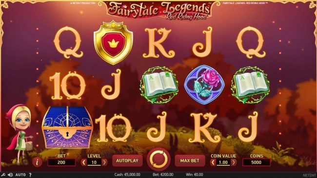 Karamba featuring the Video Slots Fairytale Legends Red Riding Hood with a maximum payout of 4000