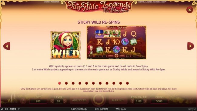 Sticky Wild Re-spins Rules