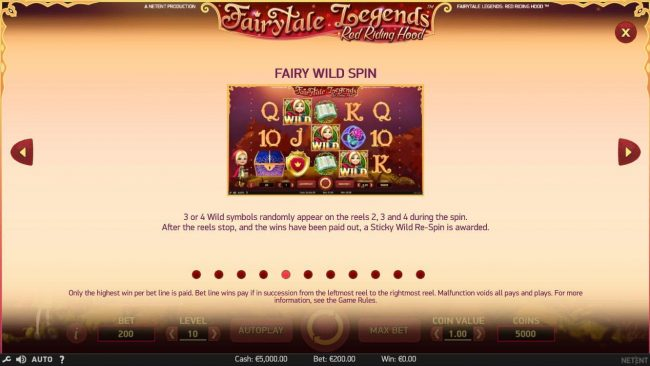 Fairy Wild Spin Game Rules