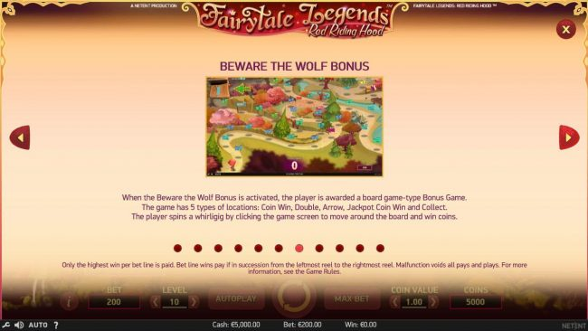 Fairytale Legends Red Riding Hood :: Beware the Wolf Bonus Game Rules