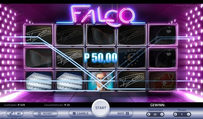 Crazy vegas featuring the Video Slots Falco with a maximum payout of $2,500