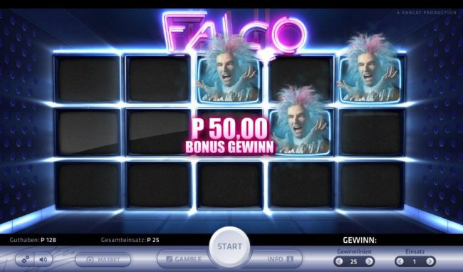 Slots Million featuring the Video Slots Falco with a maximum payout of $2,500