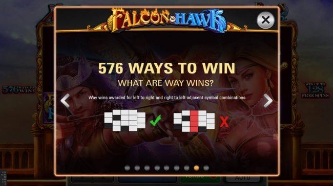 Boo Casino featuring the Video Slots Falcon & Hawk with a maximum payout of $172,800