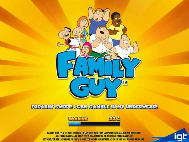 Betfred featuring the Video Slots Family Guy with a maximum payout of $250,000