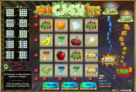 Vegas Winner featuring the Video Slots Fancashtic with a maximum payout of $12,500