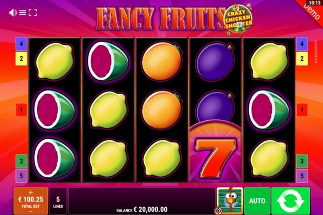 Fancy Fruits Crazy Chicken Shooter :: Main Game Board