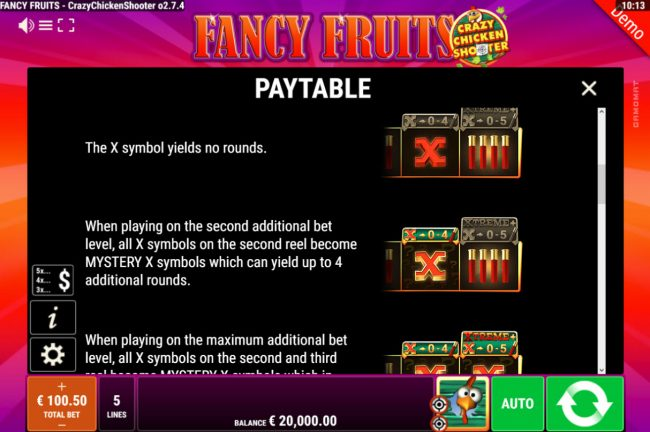 Fancy Fruits Crazy Chicken Shooter :: Bonus Game Rules