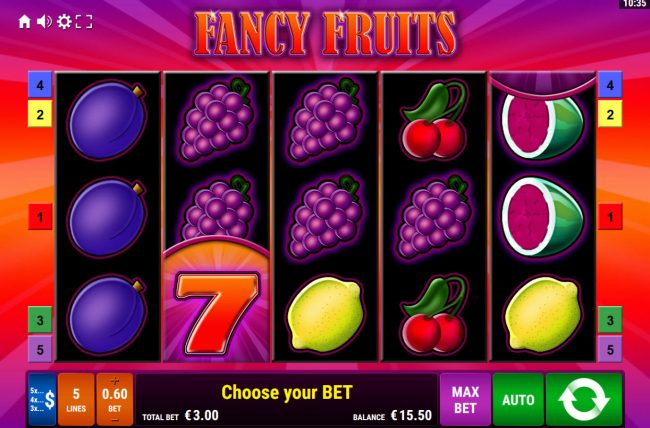 Fancy Fruits :: Main Game Board
