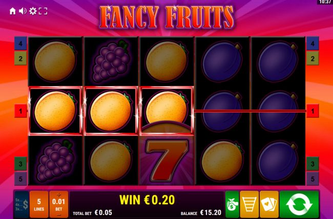 Fancy Fruits :: A winning three of a kind
