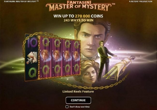 Play slots at Loki Casino: Loki Casino featuring the Video Slots Fantasini Master of Mystery with a maximum payout of $5,000