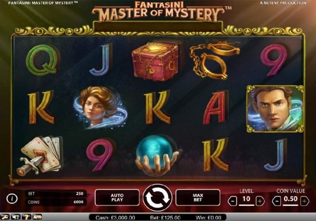 Casino Red Kings featuring the Video Slots Fantasini Master of Mystery with a maximum payout of $5,000