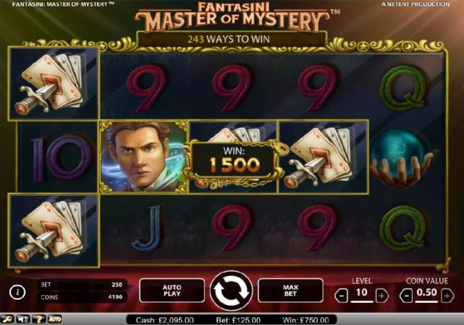 Next Casino featuring the Video Slots Fantasini Master of Mystery with a maximum payout of $5,000