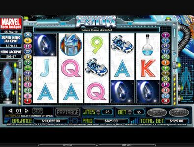 Wild Jackpots featuring the video-Slots Fantastic Four with a maximum payout of 5,000x
