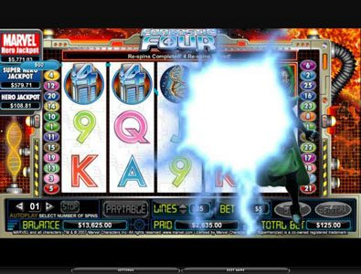 Spintropolis featuring the video-Slots Fantastic Four with a maximum payout of 5,000x