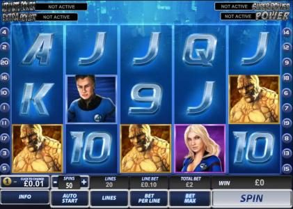 Play slots at William Hill Casino Club: William Hill Casino Club featuring the Video Slots Fantastic 4 with a maximum payout of $200,000