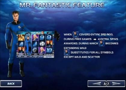 Fantastic Four 50 Lines :: mr. fantastic feature - rules and how to play