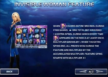 Fantastic Four 50 Lines :: invisible woman feature - rules and how to play