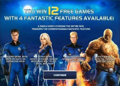 Fantastic Four 50 Lines :: 12 free games awarded