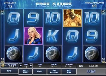 BGO Vegas featuring the Video Slots Fantastic Four 50 Lines with a maximum payout of $100,000