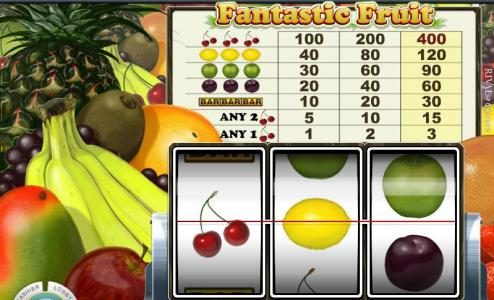 Play slots at This Is Vegas: This Is Vegas featuring the Video Slots Fantastic Fruit with a maximum payout of $12,000