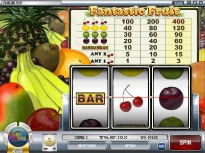 Vive Mon Casino featuring the Video Slots Fantastic Fruit with a maximum payout of $12,000