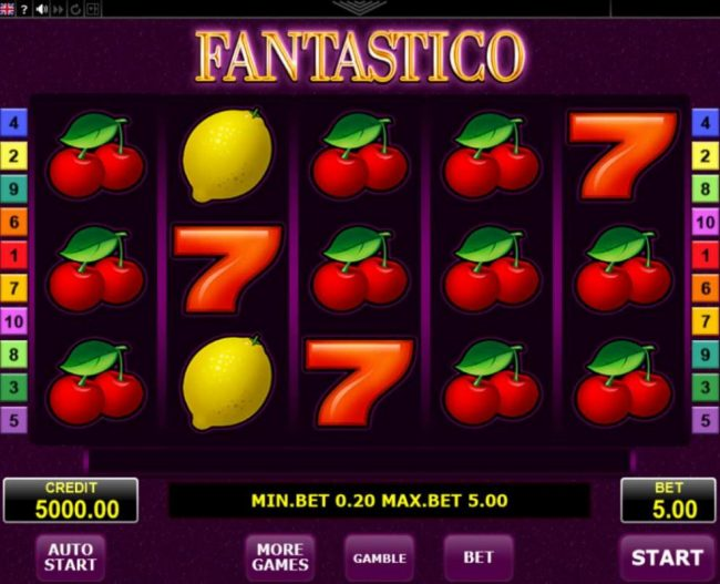 CryptoWild featuring the Video Slots Fantastico with a maximum payout of $25,000