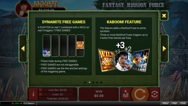 Wild Joker featuring the Video Slots Fantasy Mission Force with a maximum payout of $250,000