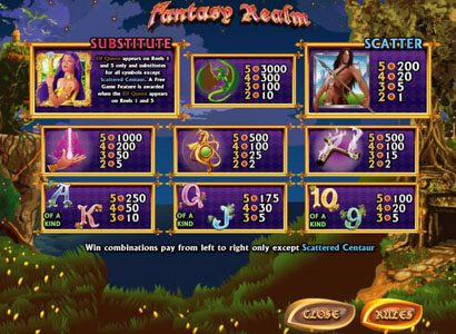 Stan James featuring the video-Slots Fantasy Realm with a maximum payout of 3,000x