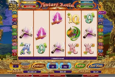 Karamba featuring the video-Slots Fantasy Realm with a maximum payout of 3,000x