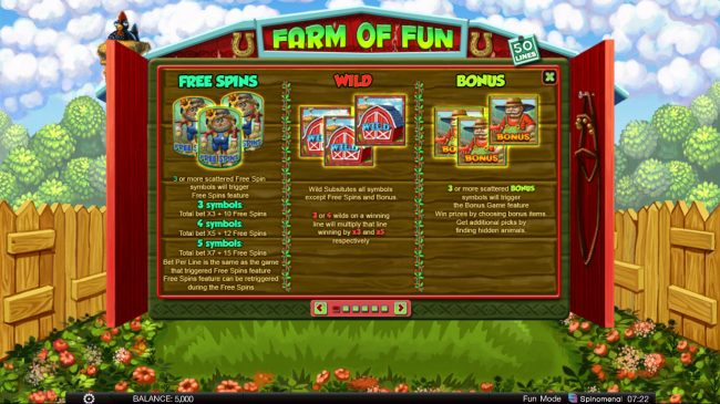 24 Vip featuring the Video Slots Farm of Fun with a maximum payout of $8,000