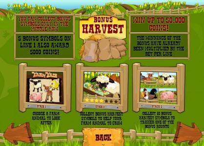 Farm Fair :: how to play the harvest bonus feature