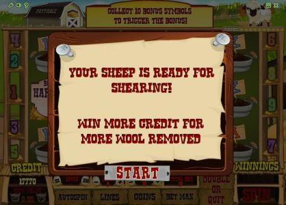 Farm Fair :: bonus featur triggered - your sheep is ready for shearing
